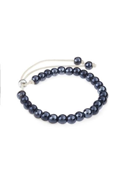 Keramiek armband donker blauw