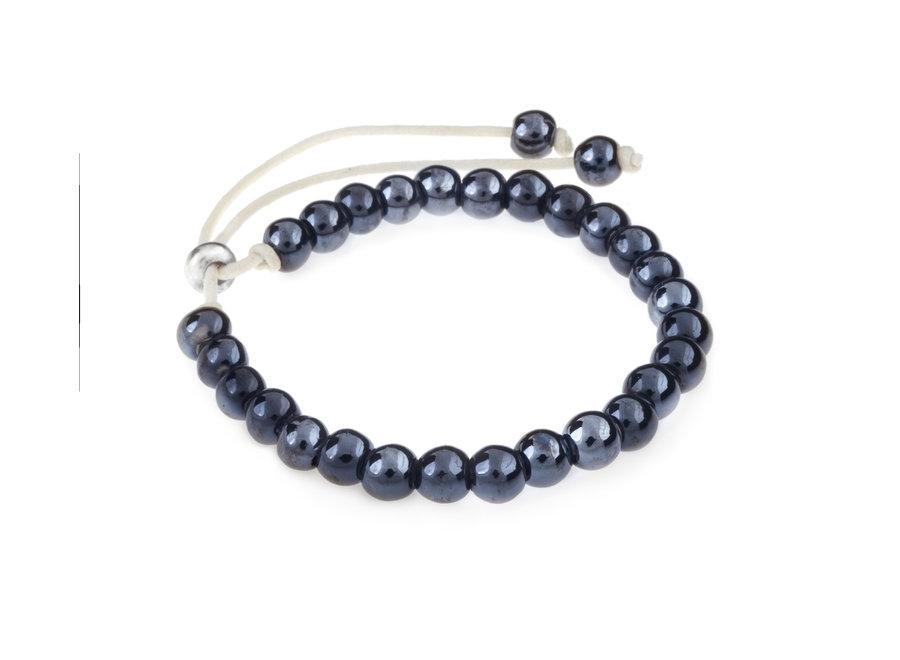 Ceramic bracelet dark blue