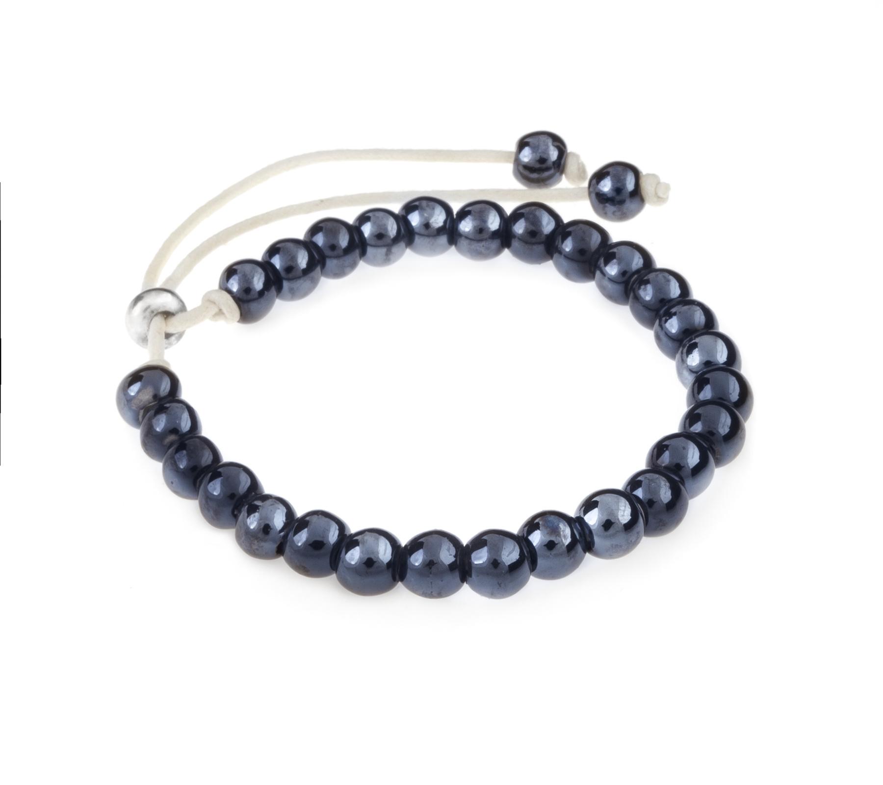 Keramiek armband donker blauw-1
