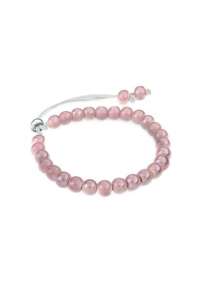 Keramiek armband roze