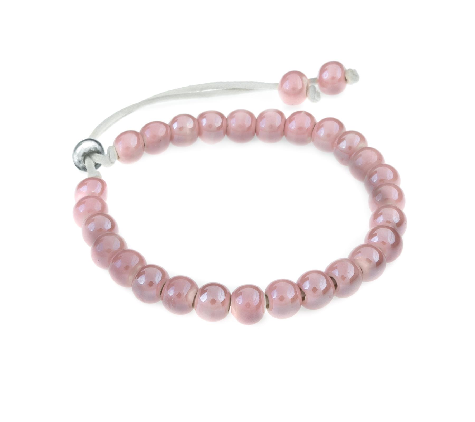 Keramiek armband roze-1