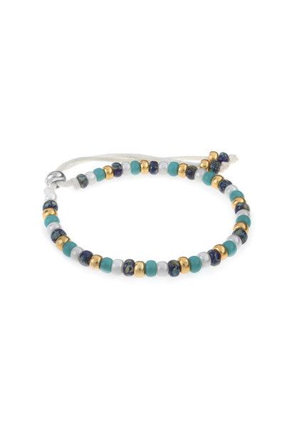 Miyuki bracelet beach gold