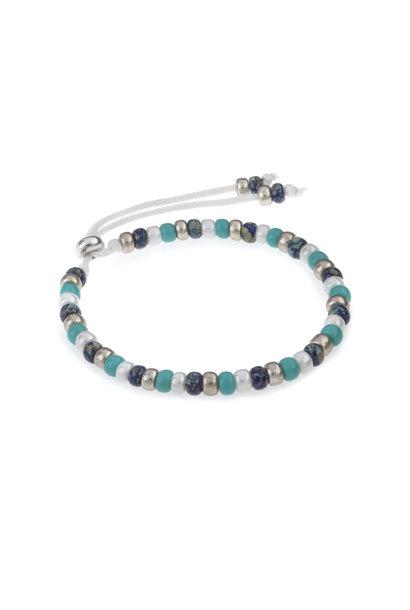 Miyuki armband strand zilver