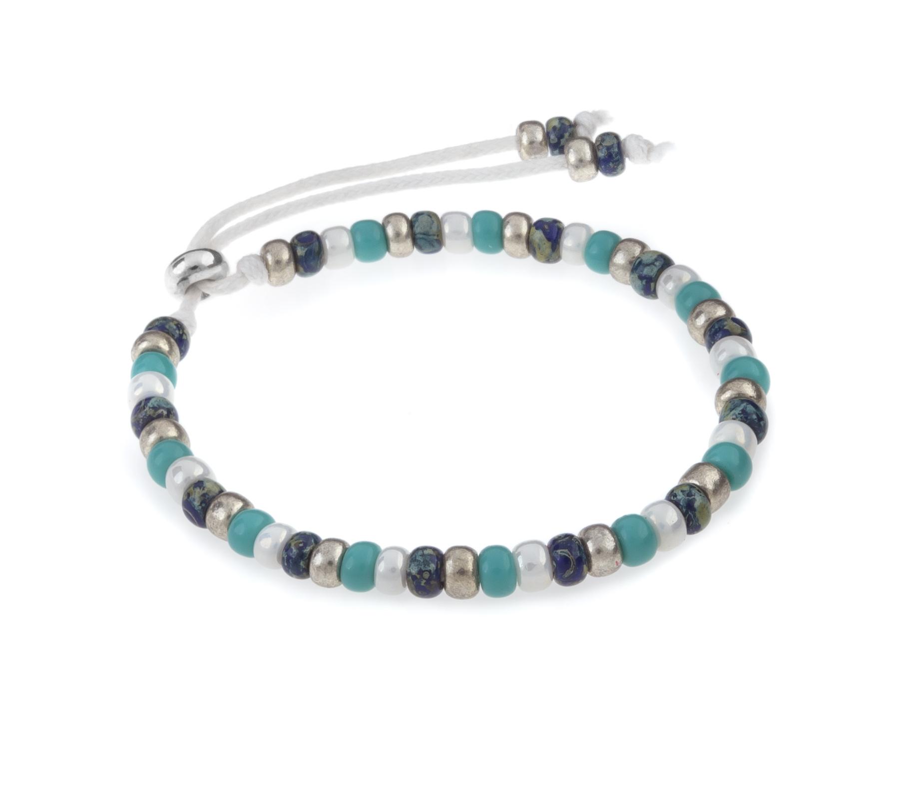 Miyuki armband strand zilver-1