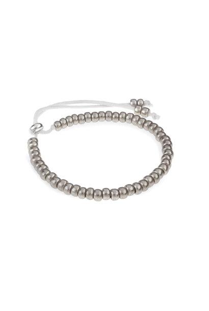 Miyuki bracelet silver