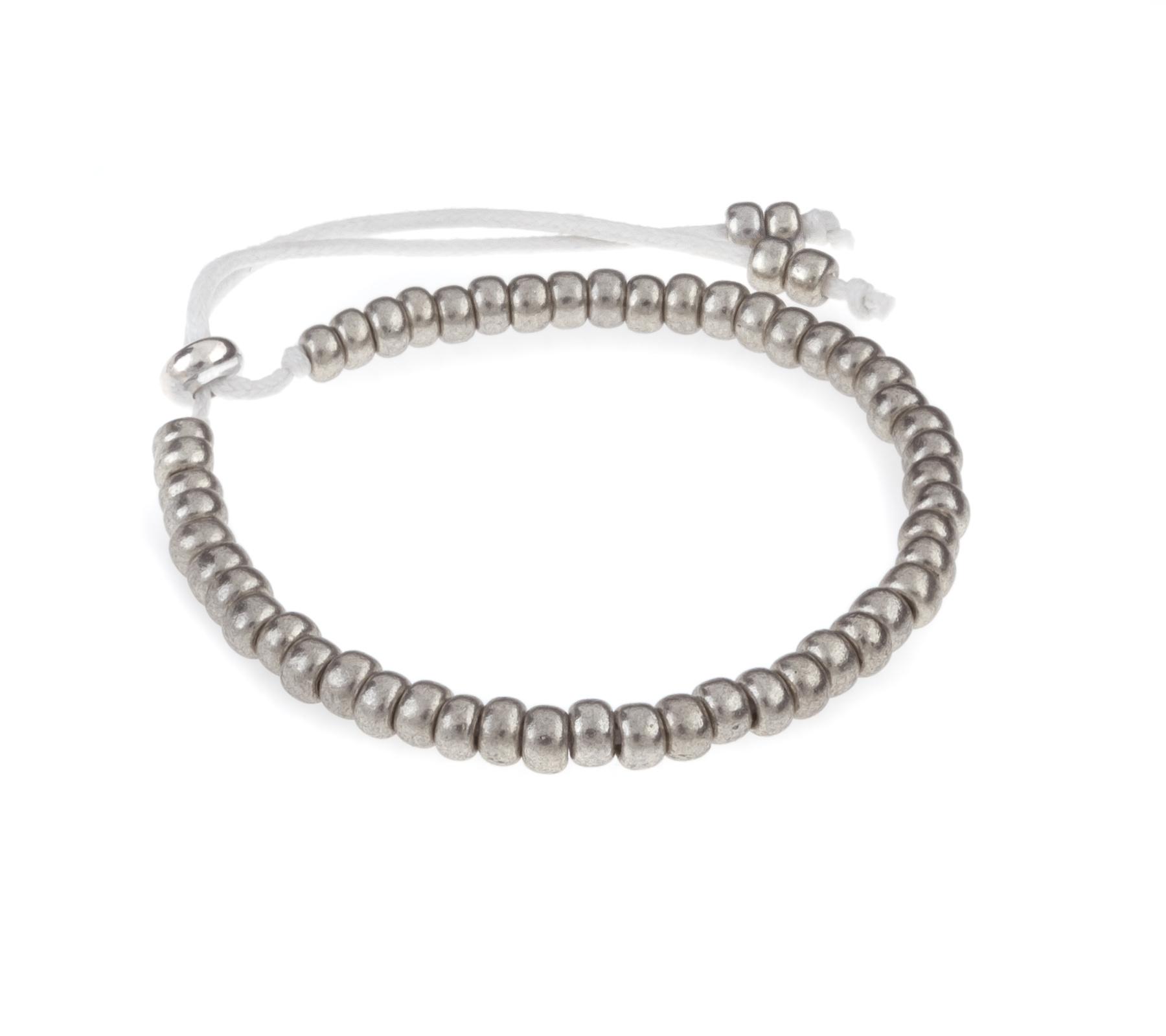 Miyuki armband zilver-1