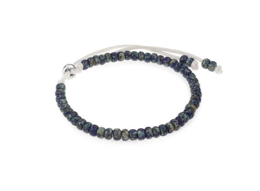 Miyuki armband cobalt blue