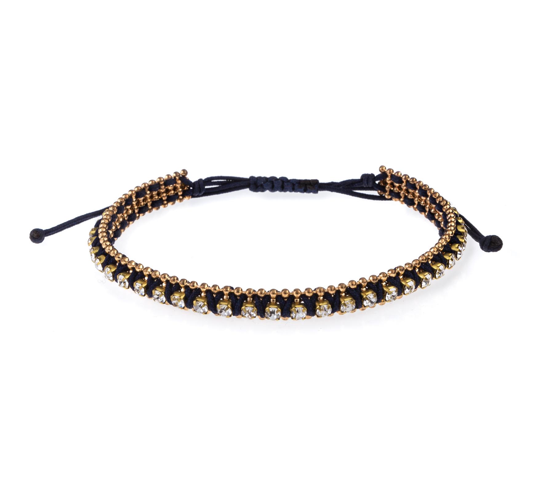 Armband met strass steentjes-1