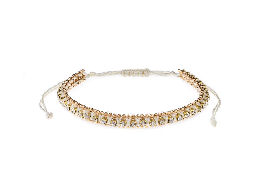 Bracelet with rhinestones