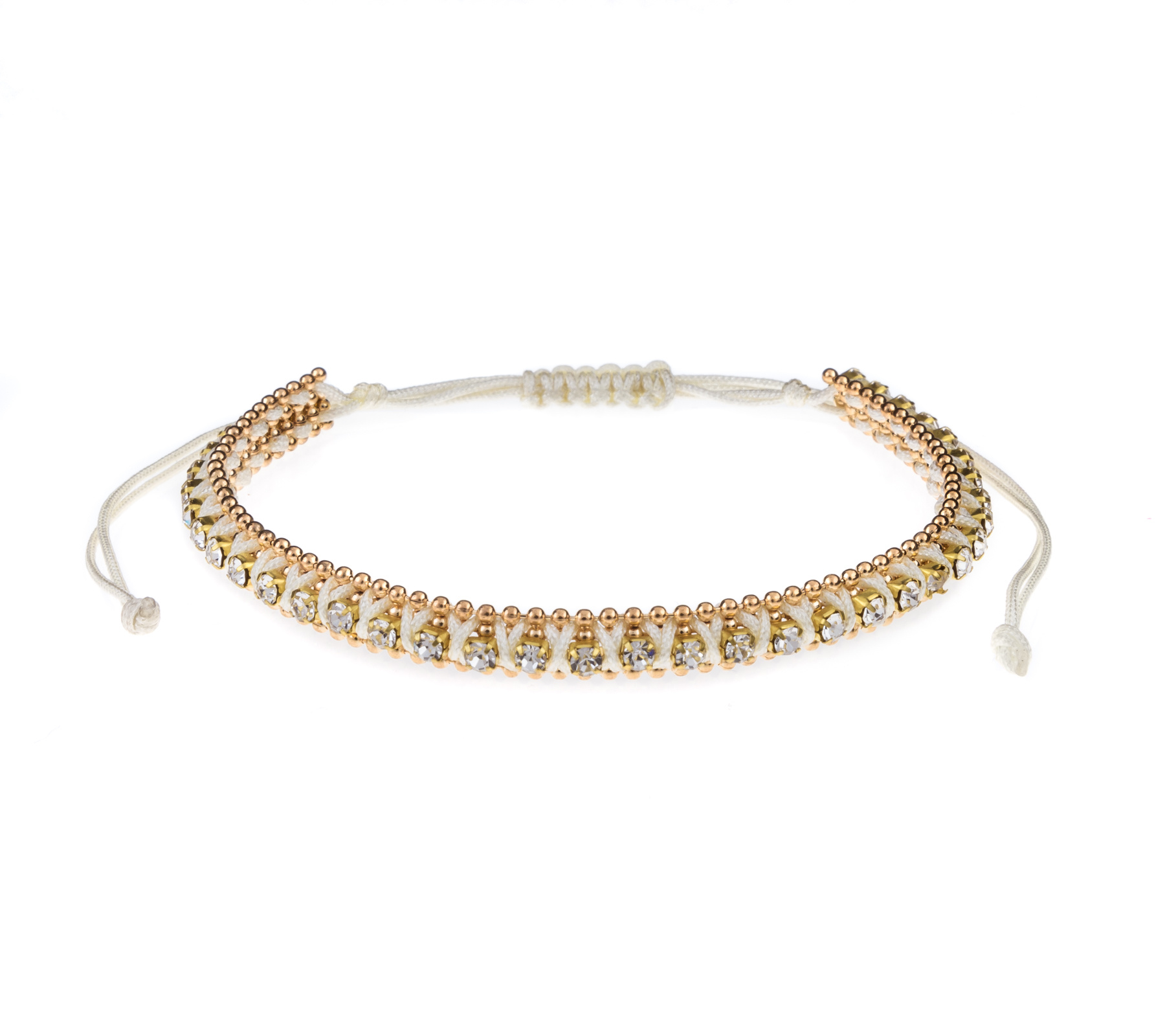 Armband met strass steentjes-3