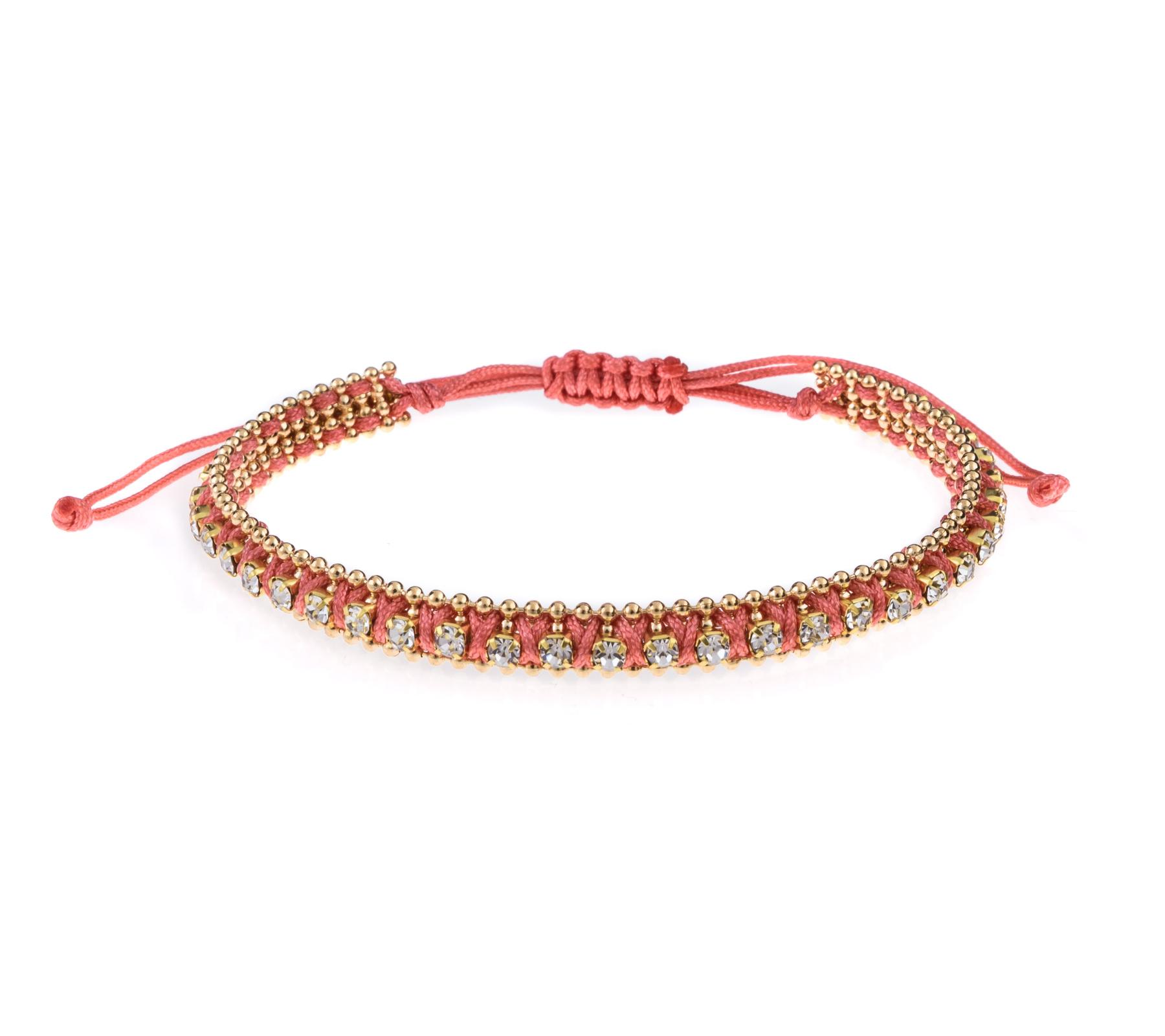 Armband met strass steentjes-4