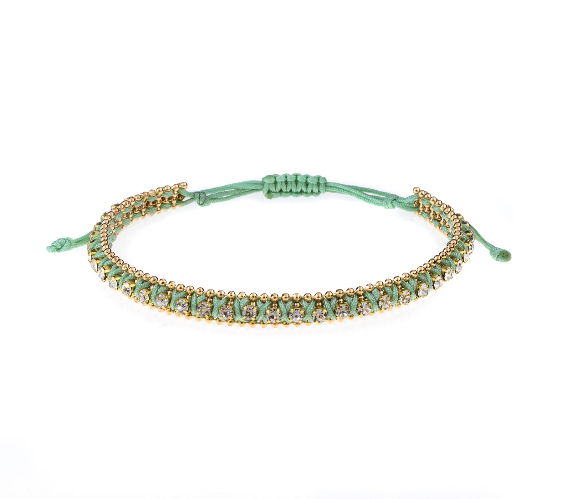 Armband met strass steentjes-5