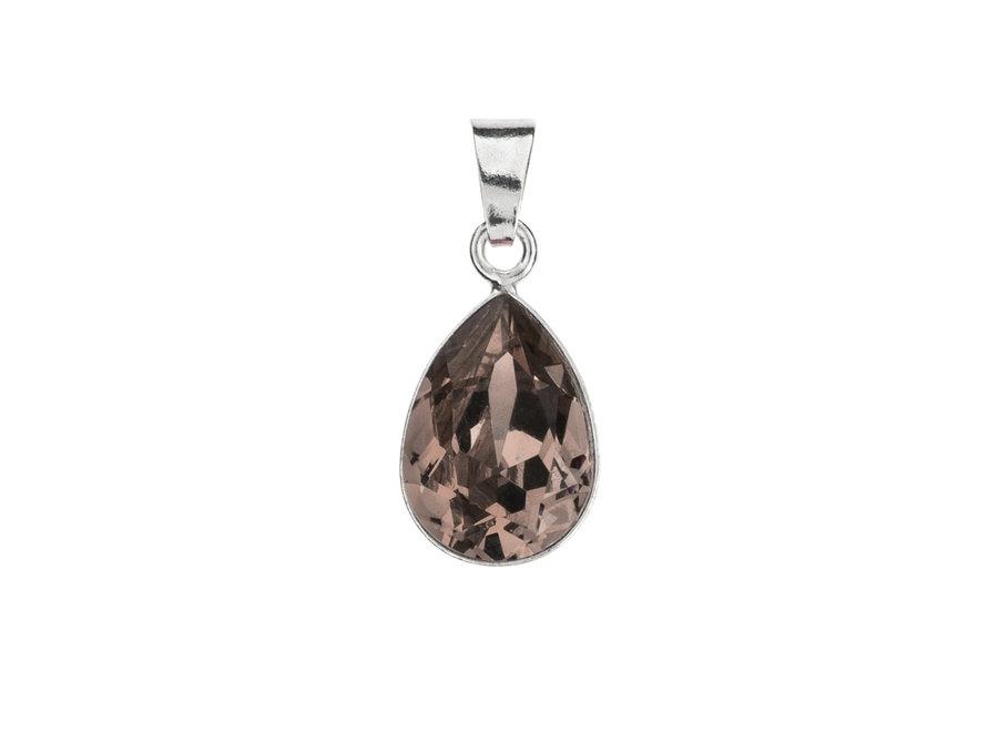 Zilveren hanger met Swarovski kristal