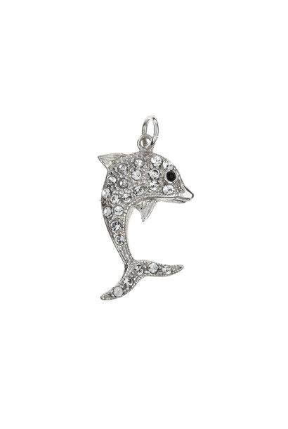 Silver pendant dolphin