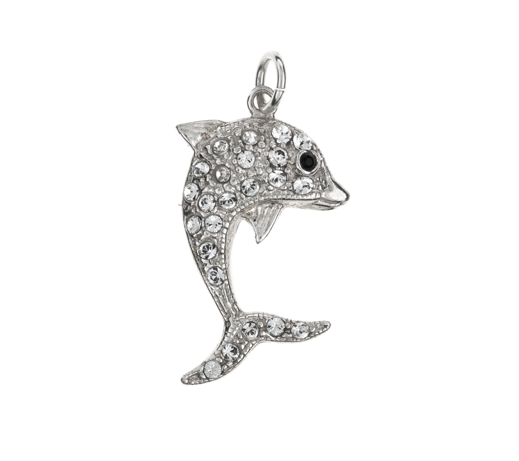 Zilveren hanger dolfijn-1
