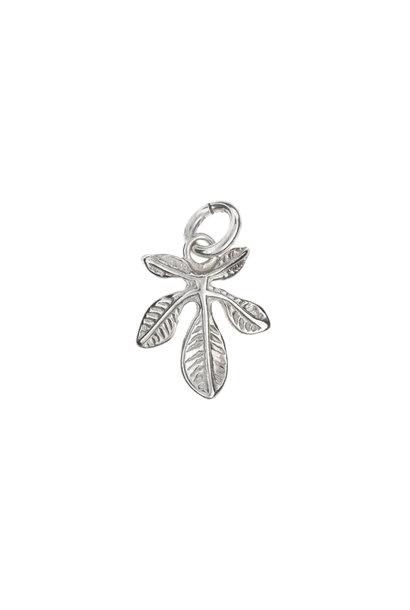Silver pendant chestnut leaf