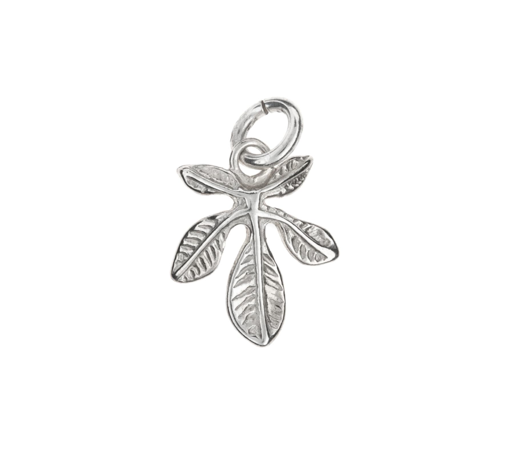Silver pendant chestnut leaf-1