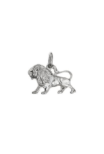 Silver pendant lion