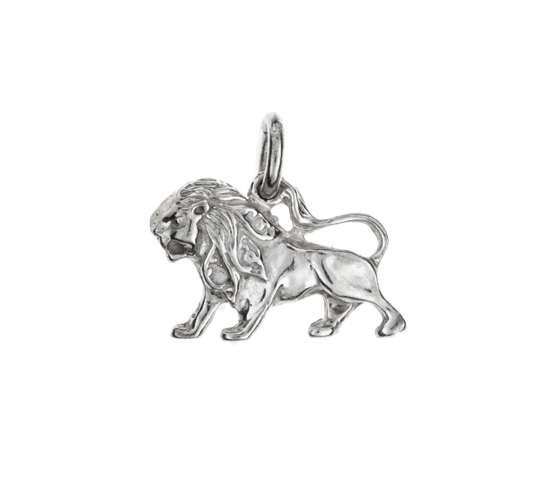 Zilveren hanger leeuw-1