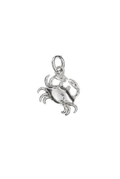 Zilveren hanger krab