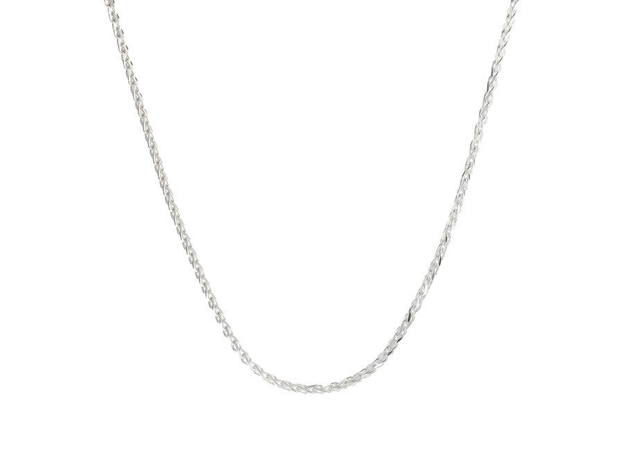 Zilveren ketting vossenstaart