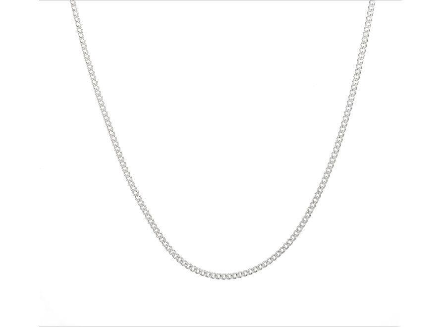 Silver necklace gourmet