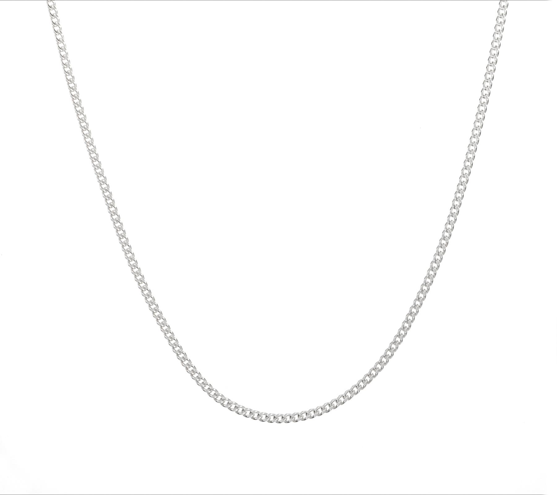 Zilveren ketting gourmet-1