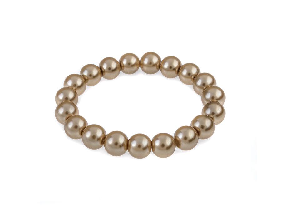Glass pearl bracelet beige