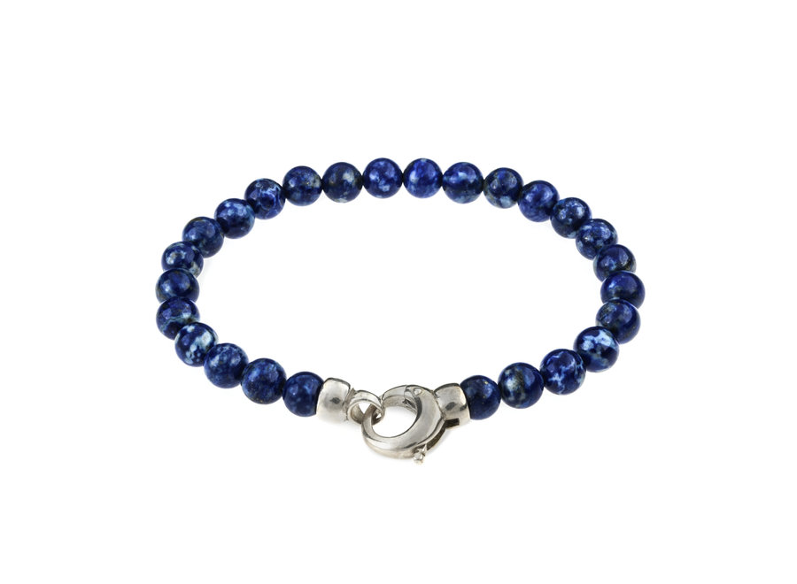 Gemstone bracelet Lapis Lazuli with lock