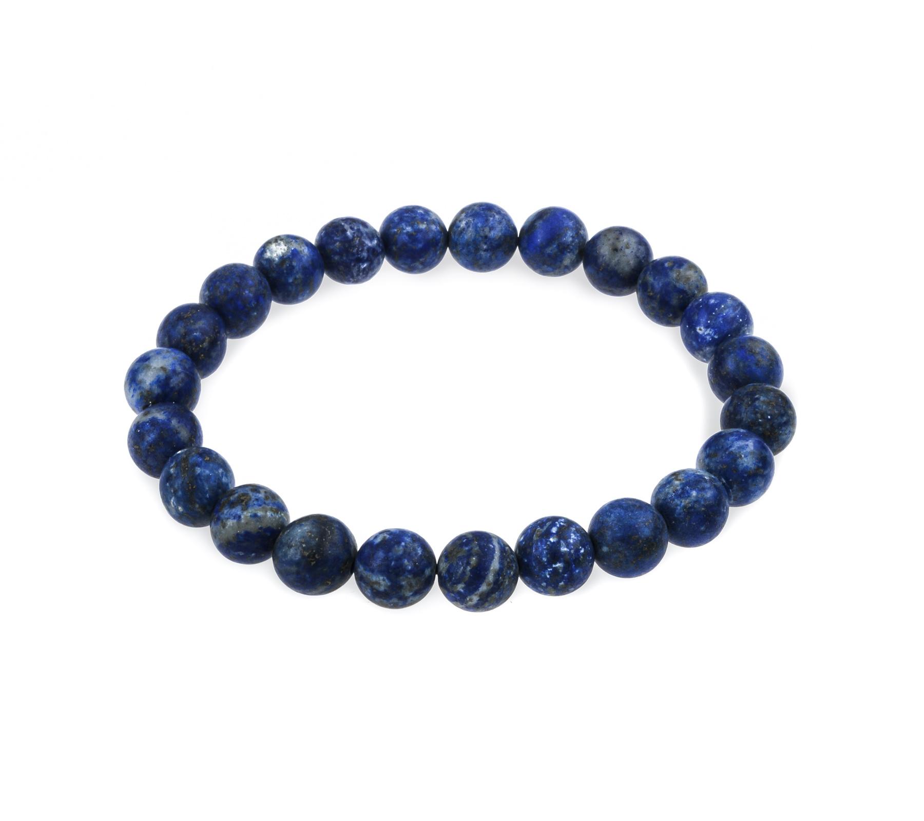 Edelsteen armband Lapis Lazuli mat-1
