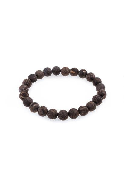 Gemstone bracelet matte gray agate
