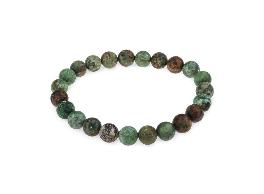 Edelsteen armband Afrikaans groene opaal mat