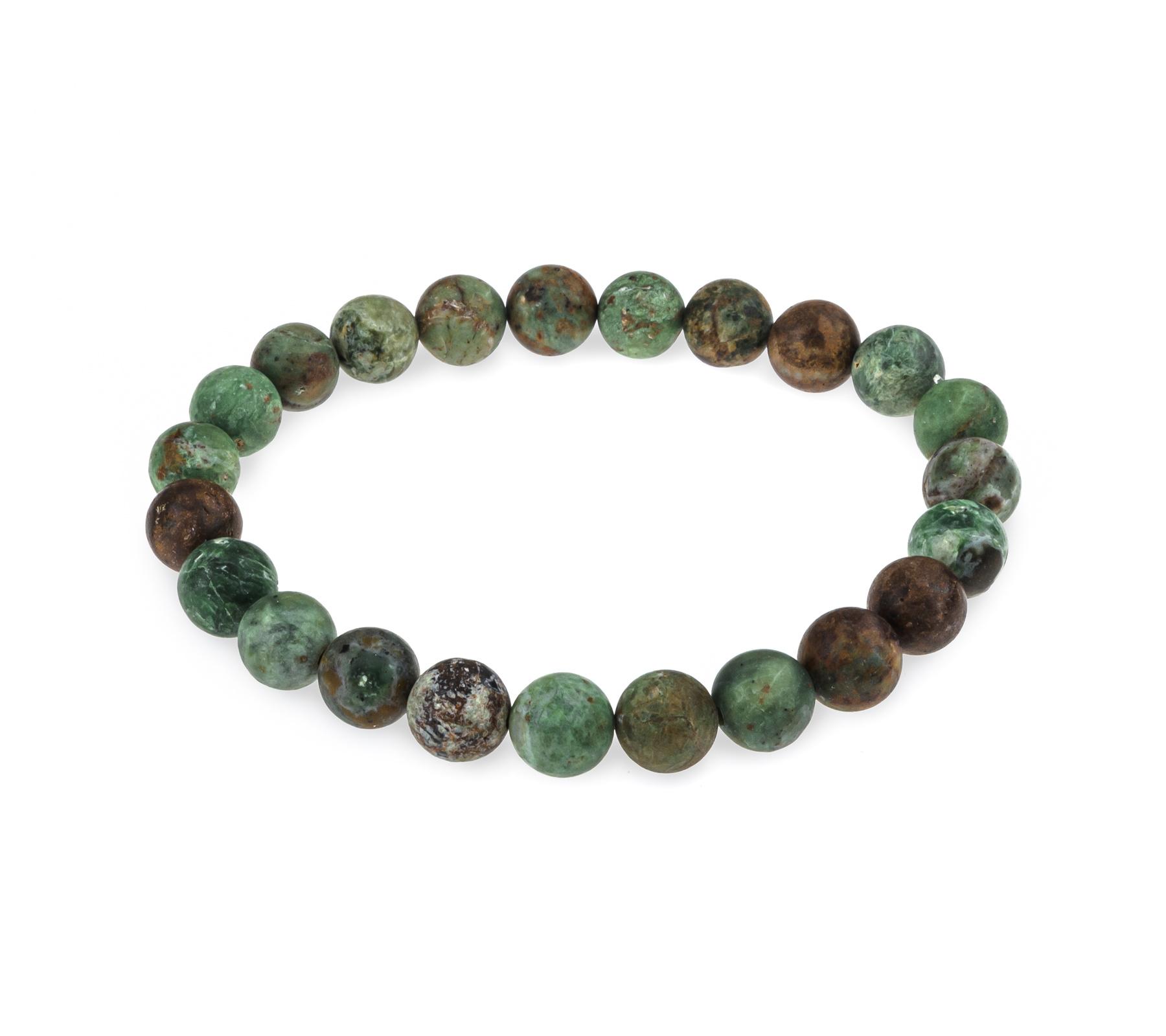 Gemstone bracelet African green opal matt-3