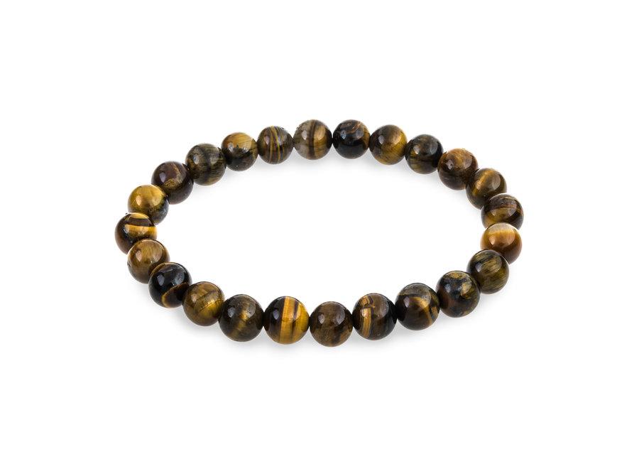 Gemstone bracelet tiger eye 8mm