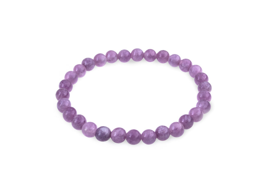Gemstone bracelet purple jade