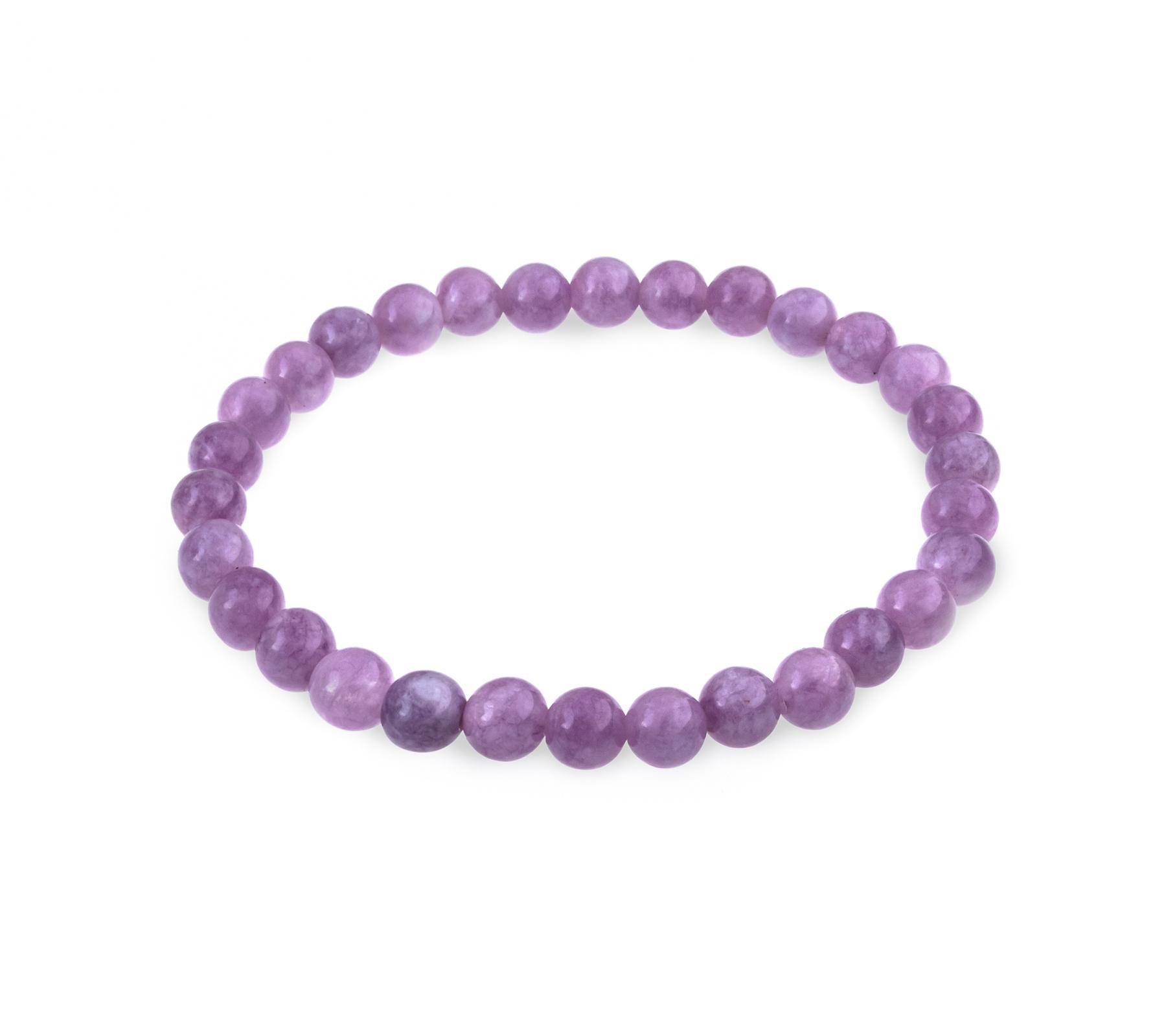 Gemstone bracelet purple jade-1
