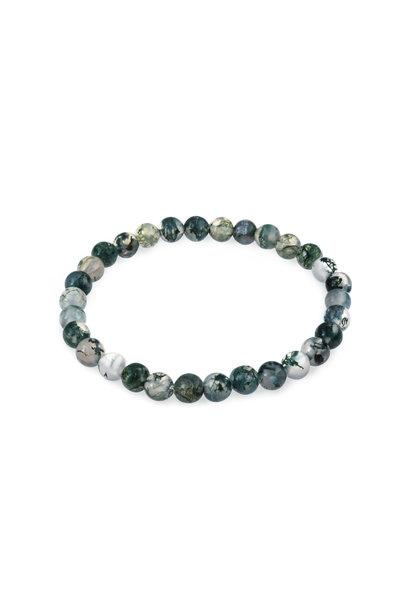 Gemstone bracelet moss agate
