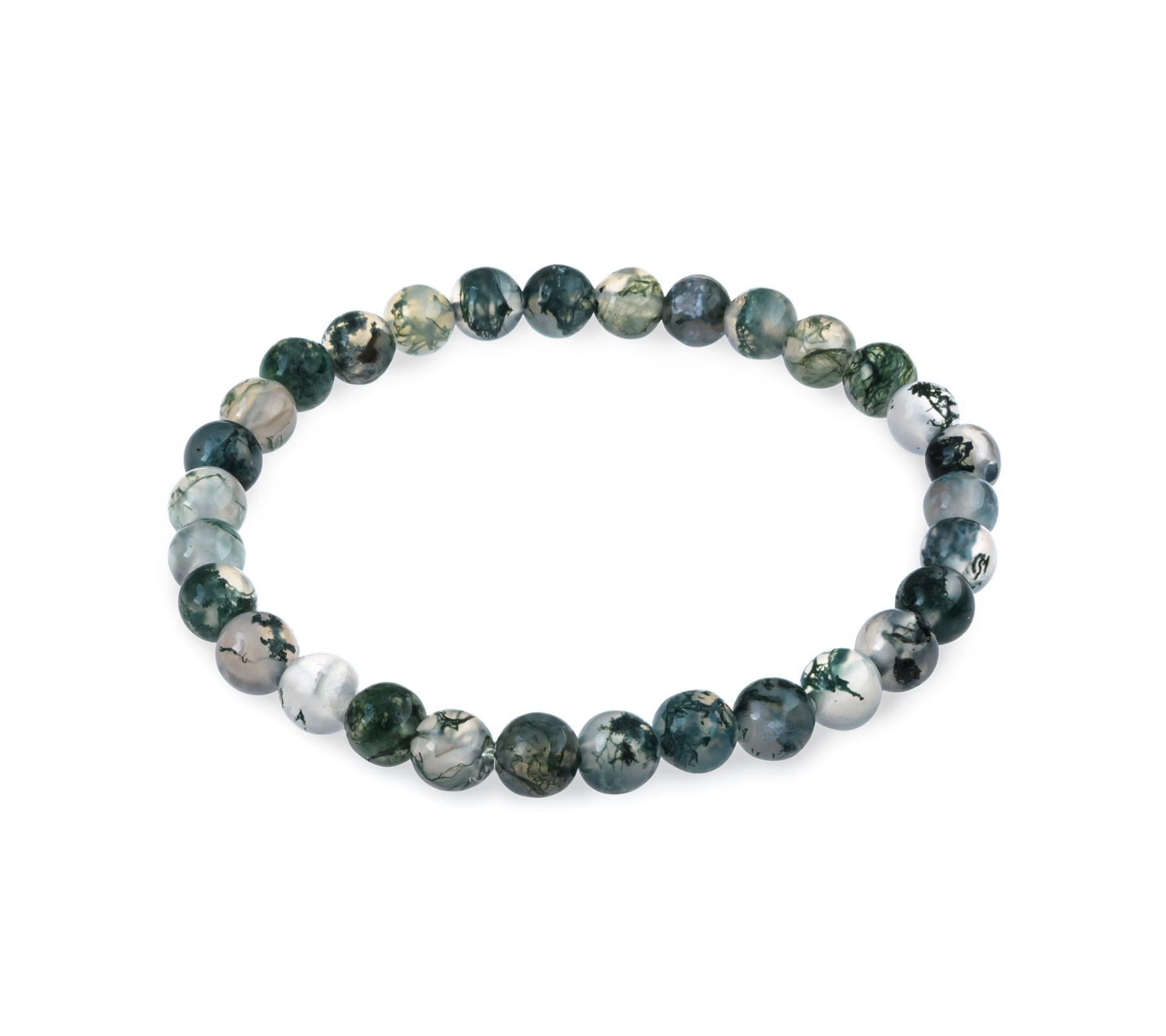 Gemstone bracelet moss agate-1