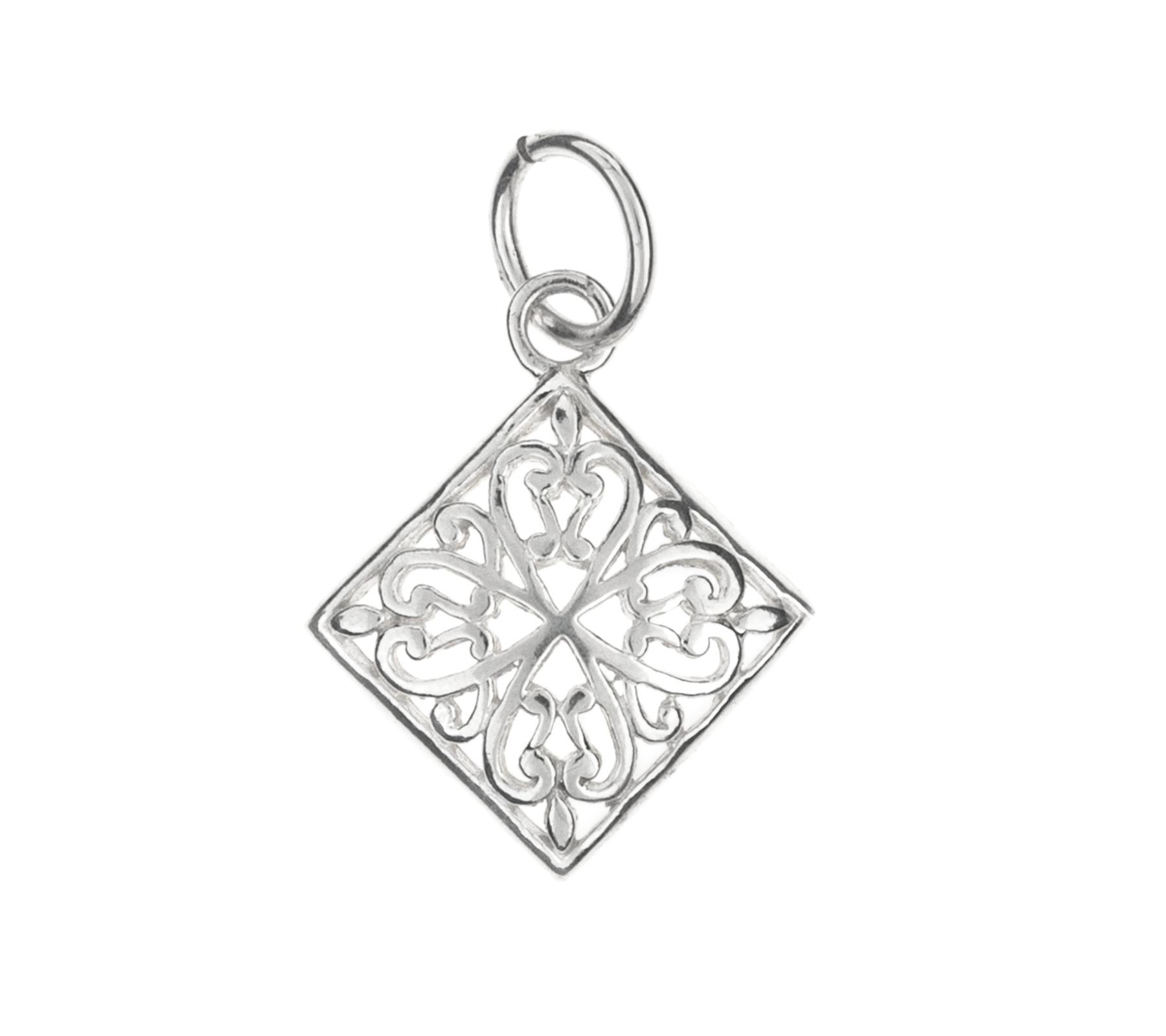 Silver pendant diamond-1