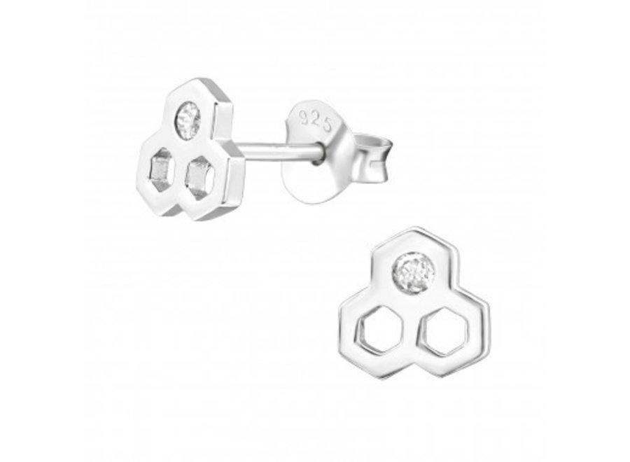 Ear studs honeycomb