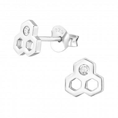 Ear studs honeycomb-2