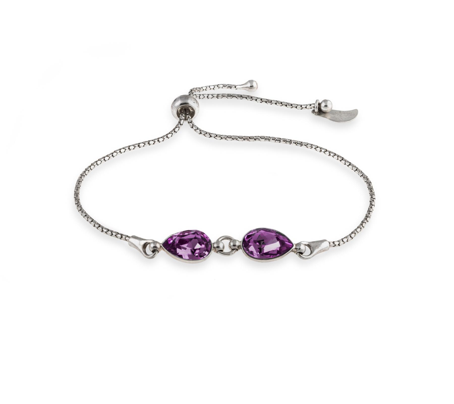 Bracelet with Swarovski crystals-3