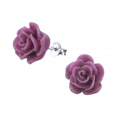 Ear stud rose-6
