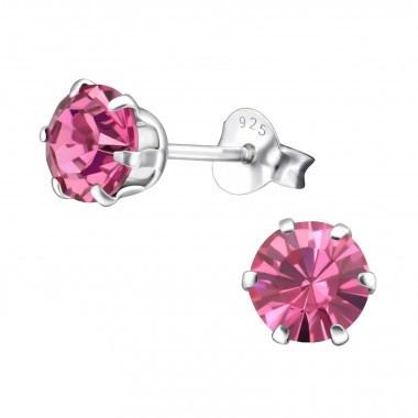 Zilveren oorstekers met zirkonia steentjes-1