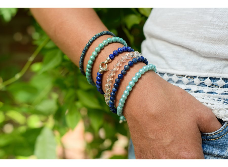Edelsteen armband bergkristal