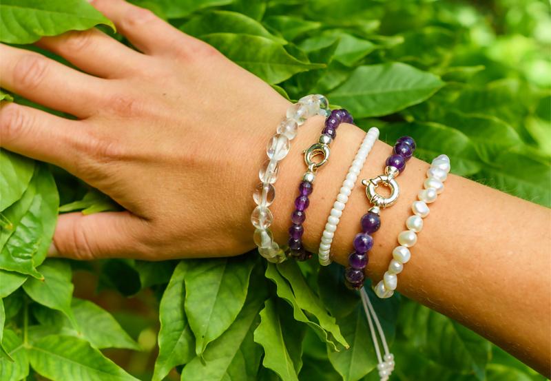 Gemstone bracelet rock crystal-2