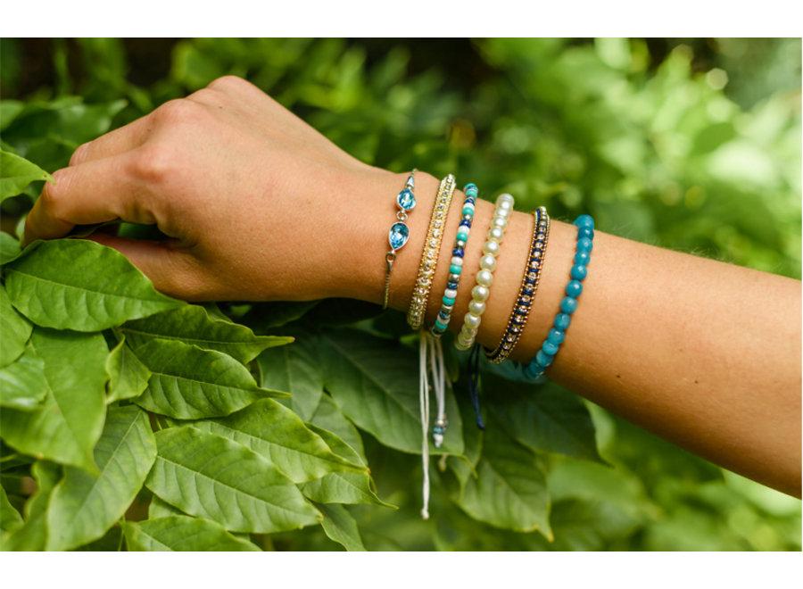 Armband met strass steentjes