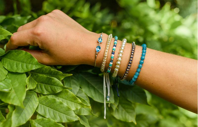 Armband met strass steentjes-6