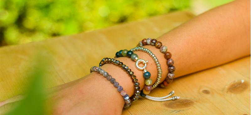 Gemstone bracelet African opal-2