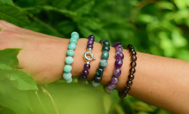 Gemstone bracelet amethist-2